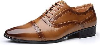 Zapatos casuales Zapatos de Oxford de los hombres, cuero de la PU casual 5 máscara de los ojos, tacones altos puntiagudos ...