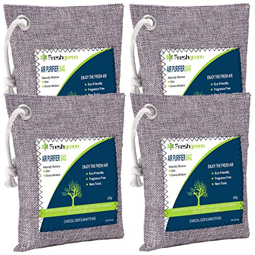 Bamboo Charcoal Air Purifying Bag 4 Pack (4*200g), Activated...