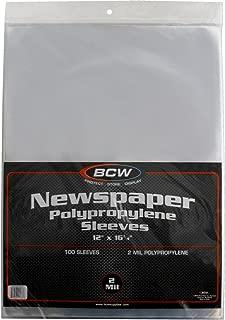 (100) Newspaper Sleeves - 12-1/8