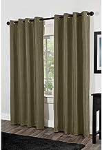 Exclusive Home Shantung Faux Silk Blackout Grommet Top Curtain Panel Pair, 54x84, Lime