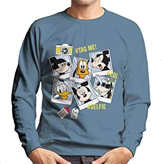Disney Classic Mickey Mouse Polaroid Selfies Men's Sweatshirt