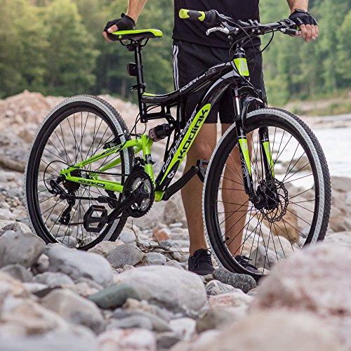 Bergsteiger Kodiak 24 Zoll Kinderfahrrad, geeignet für 8, 9, 10, 11 Jahre, Scheibenbremse, Shimano 21 Gang-Schaltung, Mountainbike mit Vollfederung, Jungen-Fahrrad - 5