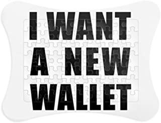 DIYthinker I Want A New Wallet Paper Card Puzzle Frame Jigsaw Game Home Decoration Gift