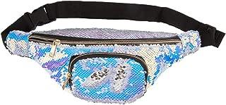 ICOSY Unisex Mermaid Sequin Waist Pack Fanny Bag Sport Bag Outdoor Travel Crossbody Bags(14x6)