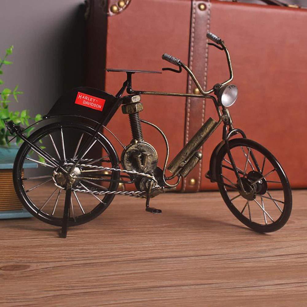 LIJUN Retro Creativo Hierro Bicicleta casa joyería Escritorio decoración Hecha a Mano Vieja Bicicleta Decorativa artesanías,Brass: Amazon.es: Hogar