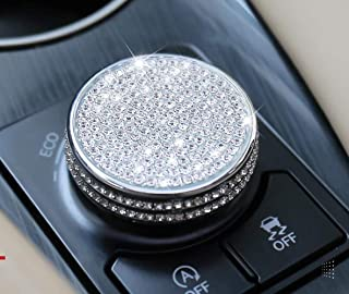 NIUHURU Car Interior Trim Bling Accessories Variable Speed ECO Push Normal Sport knob Rhinestone Decals Cover fit for Lexu...