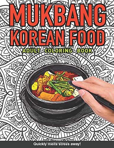 Mukbang korean food Adults Coloring...