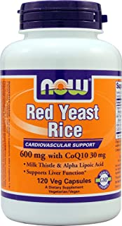 Now Foods, Red Yeast with Co Q10 Ala, 120 Veggie Capsules