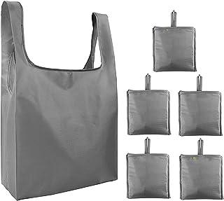 ROSEBEAR Lot de 6 sacs de courses pliables lavables et réutilisables