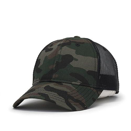 de29bab4087d5b Vintage Year Plain Two Tone Cotton Twill Mesh Adjustable Trucker Baseball  Cap