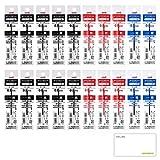 三菱鉛筆 ジェットストリーム 多色ボールペン 替芯 20本セット (黒10本 赤6本 青4本) SXR-80 LOCONEKO試し書き用紙セット (0.38)