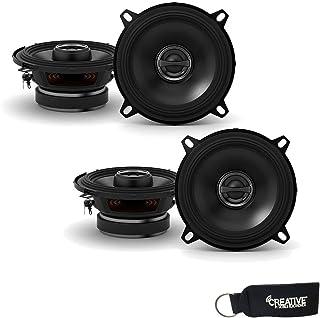 Car Speaker Package of 2 Pairs of DR Series 5-1//4 Inch 520 Watt 2-Way Upgrade Car Audio Stereo Coaxial Speakers Bundle Combo with Enrock 50 Foot 16 Gauge Speaker Wire