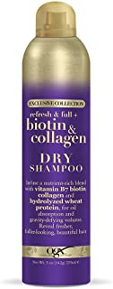 OGX Exclusive Collection Refresh & Full + Biotin & Collagen Dry Shampoo, 5 Ounce