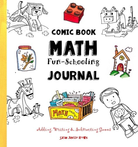 Comic Book Math Fun Schooling Journal Adding Writing Subtracting Games Ages 6 To 11