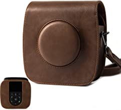 for Fujifilm Instax Square SQ20 Instant Film Camera, Classic Vintage Premium Vegan Leather Bag Cover with Adjustable Shoulder Strap to Protect Fuji instax SQ20 Camera by HelloHelio-Brown