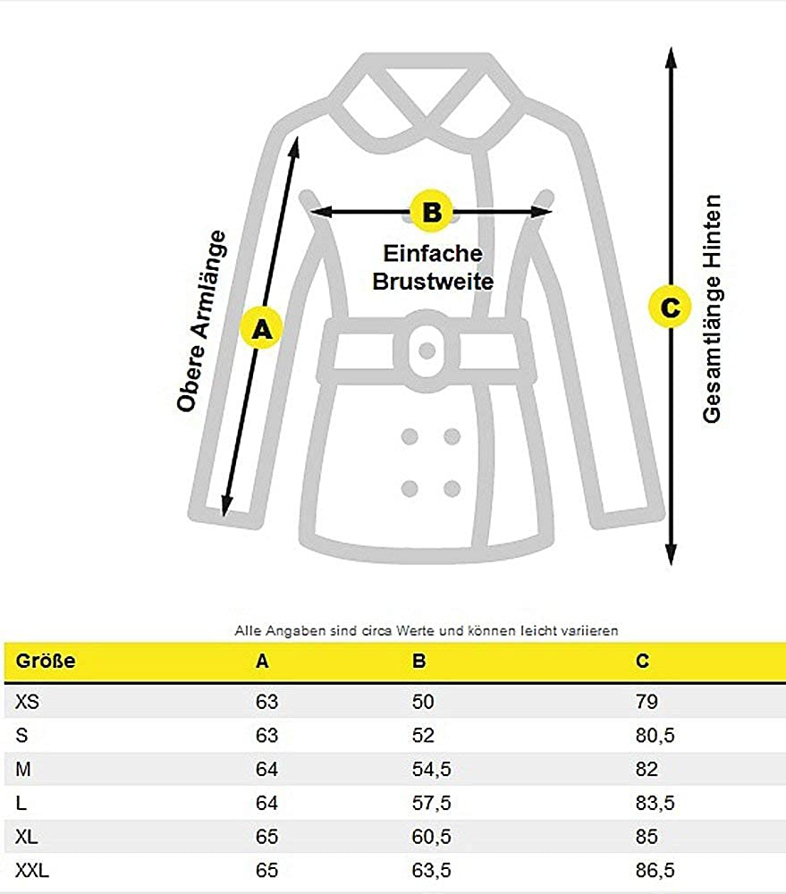 Navahoo Premium Damen Winter Jacke Parka Mantel Winterjacke warm Kunstfell B805 Olive
