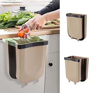 Hanging Kitchen Trash Can for Cabinet Trash Can Mini Garbage Can Collapsible Waste Bins 9 Liter for Cabinet Door Car Bathr...