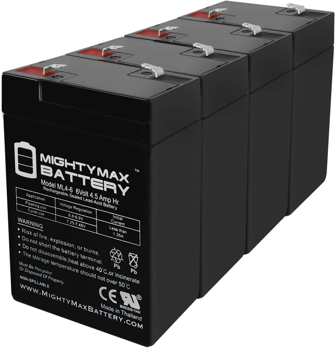 Sale price Mighty Max Battery 6V 4.5AH Ranking TOP3 Replacement IT-YB CA645 for