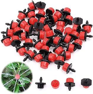 ZoneYan Anti-igensättning droppe, Gardena justerbar sprinkler huvuden Micro-drip-system justerbar änddropp (100 st)