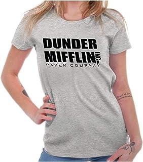 Brisco Brands Dunder Paper Company Mifflin Office TV Show Ladies T Shirt