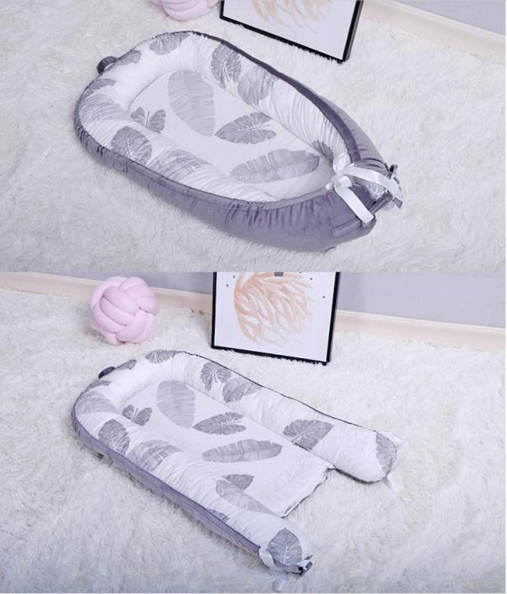 RUIXFRU Confortable Portable, Lit De Bébé Pliable, Bionique, Amovible Et Lavable, Tissu 100% Coton, Confortable Et Respirant Doux B