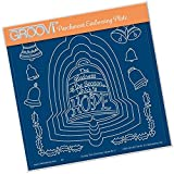 Clarity Stamps Groovi Parchment Embossing A5 - During This Christmas Verse 3 -