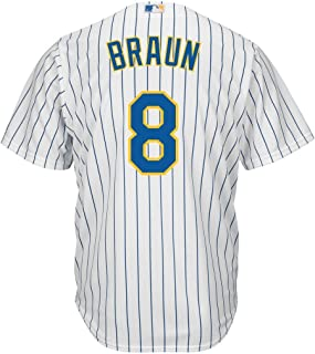 Outerstuff Ryan Braun Milwaukee Brewers White Youth 8-20 Cool Base Alternate Jersey