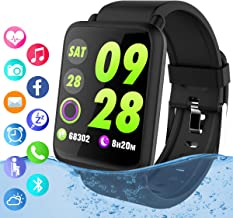 Reloj inteligente, reloj inteligente Bluetooth con pantalla táctil con ranura para la..
