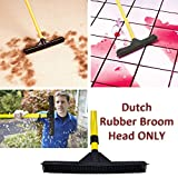 Dutch Rubber Broom 12 Head- 12 Inches Rubber Broom Head Only Fits Any Handle! by DATCH