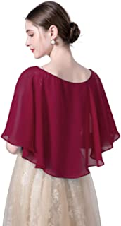 Wedding Capes Bridal Capelet Chiffon Shrug Shawls and Wraps for Evening Dress
