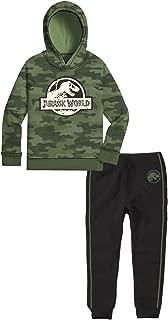Jurassic Park Jurassic World Kids Fleece Hooded Camo Sweatshirt & Sweatpants 2 Piece Activewear Set