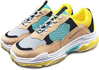 019820cd5f414 Lovelysi Femme Chunky Sneaker Basket Chaussures Retro Fitness Outdoor  Casual Sport Chaussures Antidérapant Léger Respirantes Confort