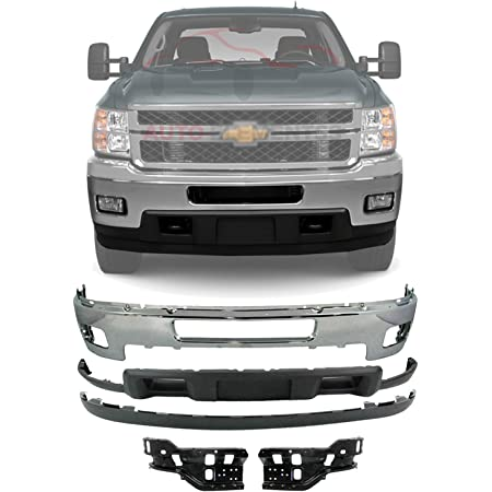 Amazon Com New Front Bumper Chrome Steel Lower Valance Air Deflector Extension Textured Impact Bracket Right Passenger Left Driver Side For 2011 2014 Chevrolet Silverado 2500hd 3500hd Direct Replacement Automotive