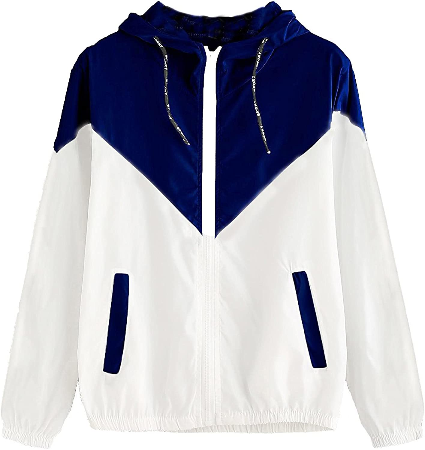 Milumia Women Color Ranking TOP1 Block Drawstring Up Jacket Popular shop is the lowest price challenge Hooded Zip Sports