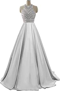 HEIMO Women's Sequins Evening Party Gowns Beading Formal...
