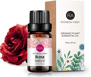 Rose Essential Oil 100% Pure Aromatherapy Oil Best Grade rose oil for Diffuser, Perfumes, Massage, Skin Care - 10ml