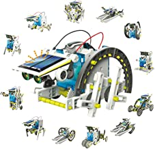 Jigamix Educational Solar Robot Building Kit – Build 13 Different Robot Vehicles - DIY Solar Powered Robot for Children, Adults, and All Science Lovers – Educational STEM Toys for Boys and Girls