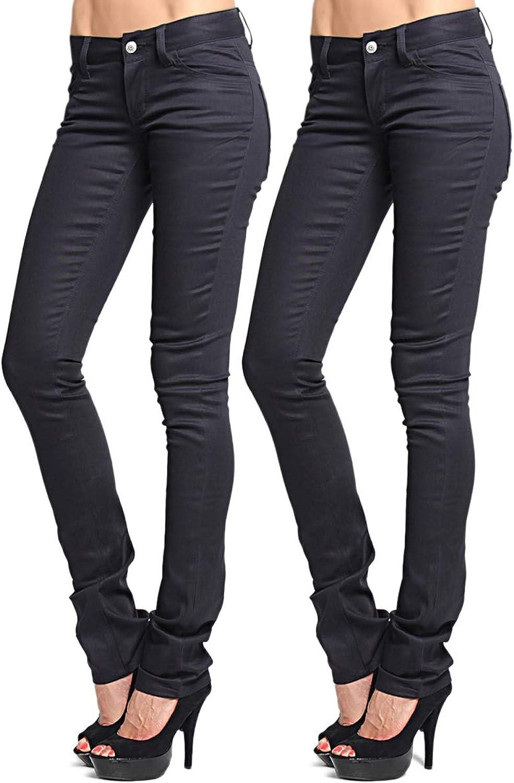 TheMogan Women's DICKIES GIRLS Twill Denim SKINNY PANTS Uniform