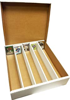 (4) SUPER Monster 5-Row Storage Boxes Holds 5,000 trading cards by MAX PRO 5000ct HALF LID - For Baseball, Football, Hockey, Soccer Cards