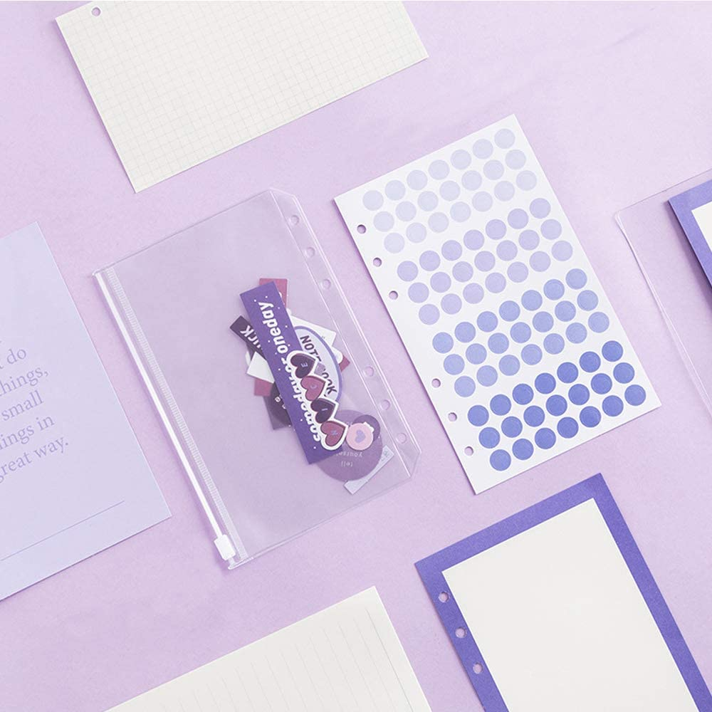 Daily STAPENS Binder Journal Notebook DIY Dotted Grid & Lined ...