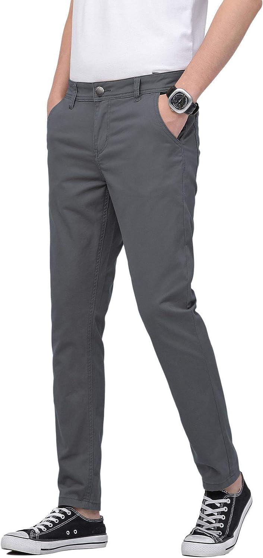 PlaidPlain Men's Large discharge sale Skinny Khaki Fit Chinos Pants 40% OFF Cheap Sale