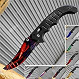 KCCEDGE BEST CUTLERY SOURCE CSGO EDC Pocket Knife Camping Accessories Razor Sharp Edge Cleaver Blade Folding Knife for Camping Gear Survival Kit Tactical Knife 51374 (Rage)