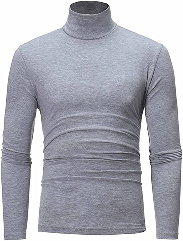 NP Men's Autumn Winter Colors Casual Long Sleeve Knitted Stretch Slim Fit Sweater Gray