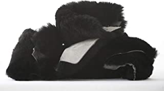1 POUND Genuine Australian Merino Sheepskin Natural Wool on Leather SMALL TO MEDIUM PIECES Palm to Finger Sized pieces for Crafting, Sewing, Padding, Pet Toys (Black)