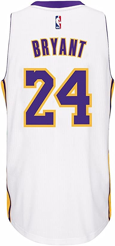 Amazon.com : ADIDAS Men's NBA Los Angeles Lakers Kobe White #24 ...