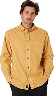Thrills Men's Minimal Oversize Mens Ls Shirt Long Sleeve Yellow
