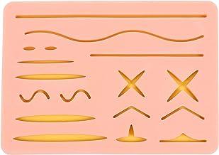 Almofada de silicone para sutura ULTECHVO para treinamento de ferimentos pré-cortados para qualquer pessoa aprendendo a su...
