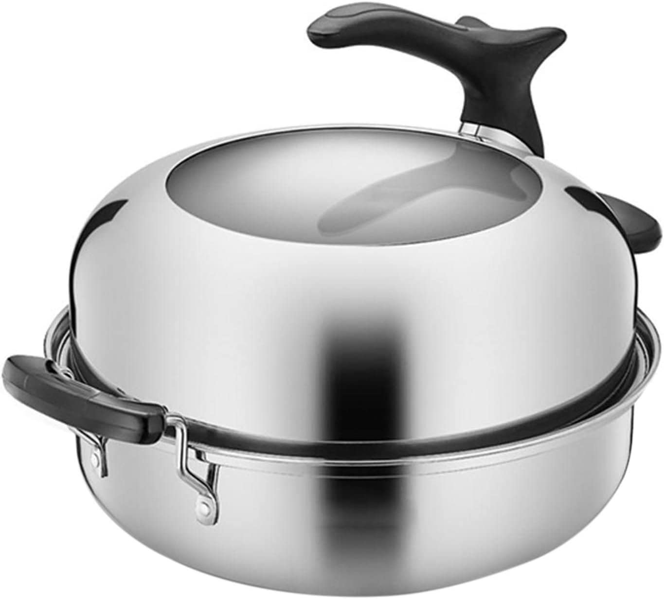 Soapow Steaming Pot With Insert Basket And 5 ☆ free popular Lid Steamer Cookware