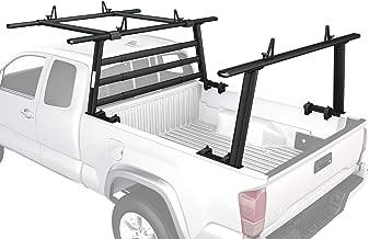 AA-Racks APX25-WG-E Aluminum Headache Rack Pickup Truck Rack w/Cantilever Extension Back Rack - Sandy Black