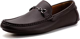 DREAMY STARK Men Slip On Shoes Soft Flexible Loafer Lightweight Anti-Slip Boat Shoe for Business Driving Walking